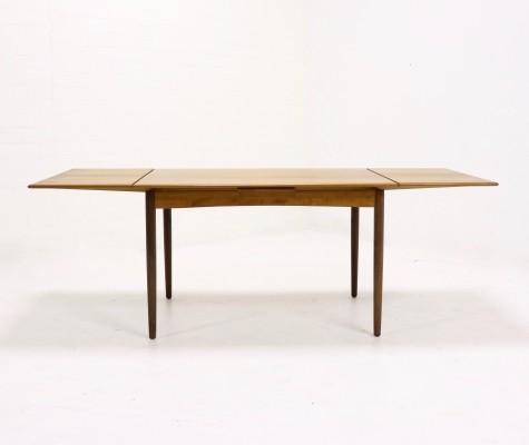 Danish Design Extendable Teak Dining Table By N.O. Moller 1960s