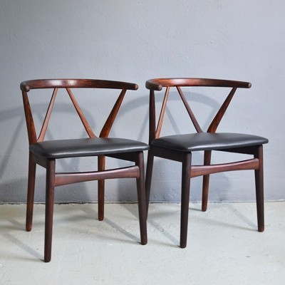 Set of 2 chairs model 255 by Henning Kjaernulf