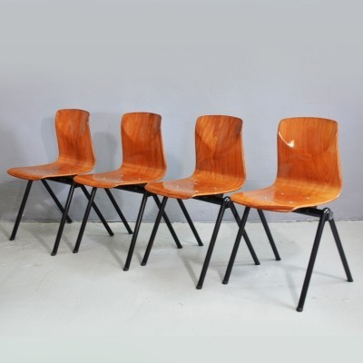 Set of 4 Galvanitas dinner chairs, 1960s