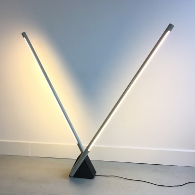 Sistema Flu floor lamp by Rodolfo Bonetto for Luci Italy, 1980s