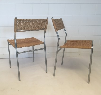 Pair of SE05 dining chairs by Martin Visser for Spectrum, 1960s