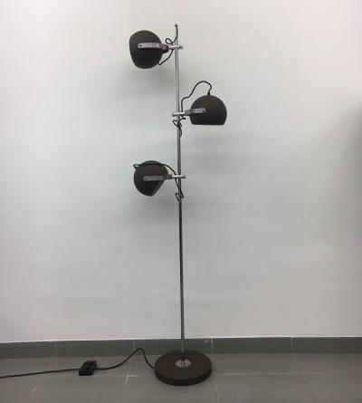 Vintage brown ball Floor lamp, 1970's