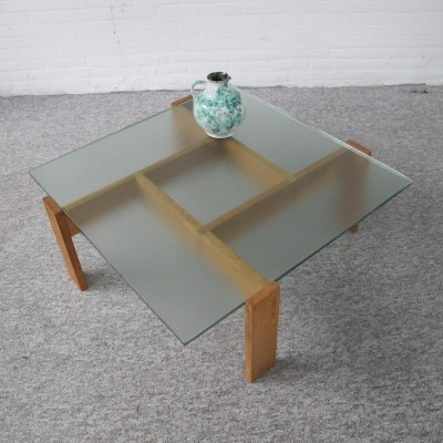 Vintage asymmetrical coffee table, 1960s