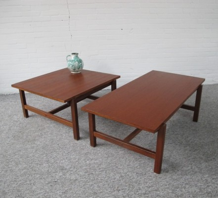 Pair of 'TH08' coffee tables by Cees Braakman for Pastoe, 1960s