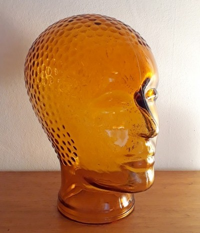 Vintage Glass head, 1970s