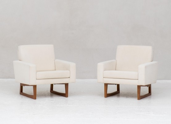 Set of 2 easy chairs by Ingvar Andersson for Effka, Sweden 1960
