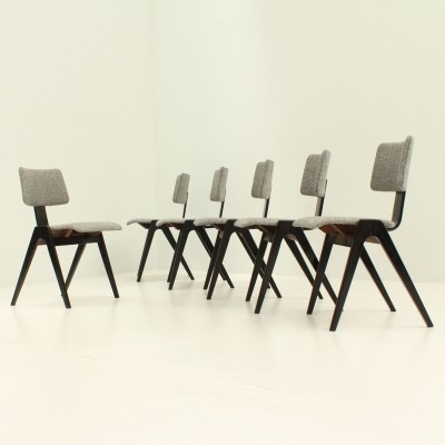 Set of Six Hillestak Chairs by Robin & Lucienne Day