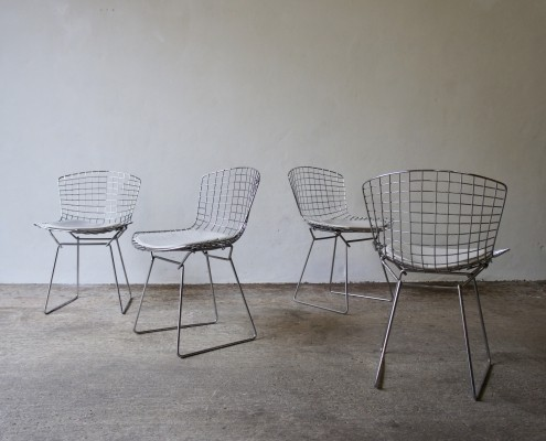 1960's Harry Bertoia Dining Chair Set By Knoll