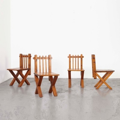 Set of 4 Modernist Church Chairs, 1960s