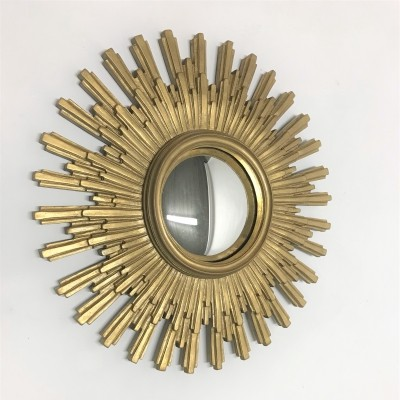 Vintage golden sunburst mirror, 1960s