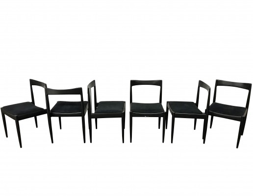 Set of 6 Vintage dining chairs by Alfred Hendrickx, 1960s