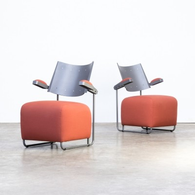 Pair of Oscar lounge chairs by Harri Korhonen for Inno Finland, 1980s