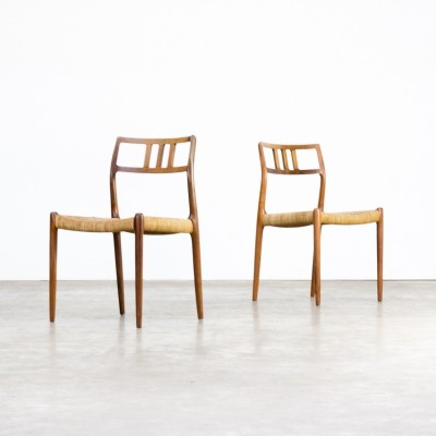 Pair of Model 79 dinner chairs by Niels Otto Møller for J L Møller, 1960s