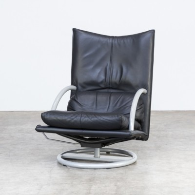 90s Rolf Benz relax lounge fauteuil build on a italian Morex metal frame