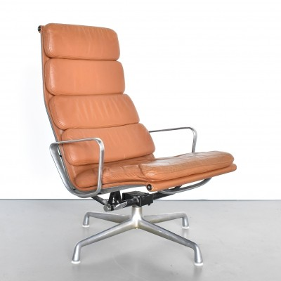 2 X Eames Lcw Lounge Chair Wood In Red Ash Finish 71179