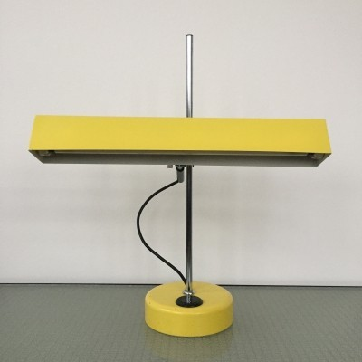 All original bright yellow vintage 1960s tl tubelight desk lamp