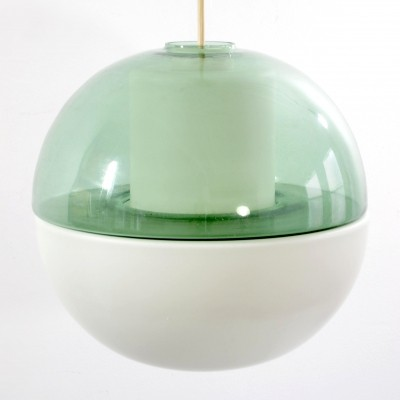 Tapio Wirkkala green coloured glass pendant for Raak Amsterdam, 1960s