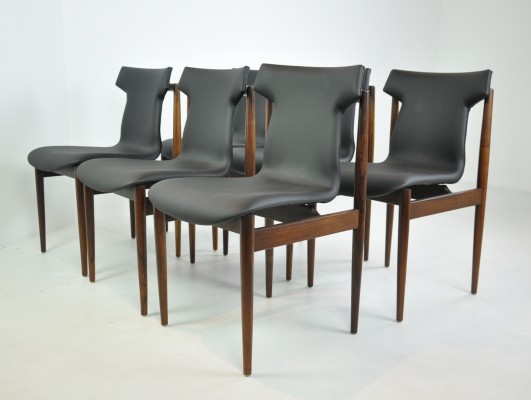 Set of 6 Dining Chairs by Inger Klingenberg for Fristho, 1960s