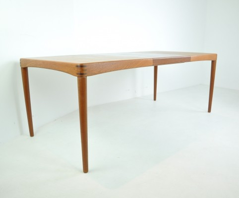 Extendable Dining Table by H.W. Klein for Bramin, Denmark 1960s