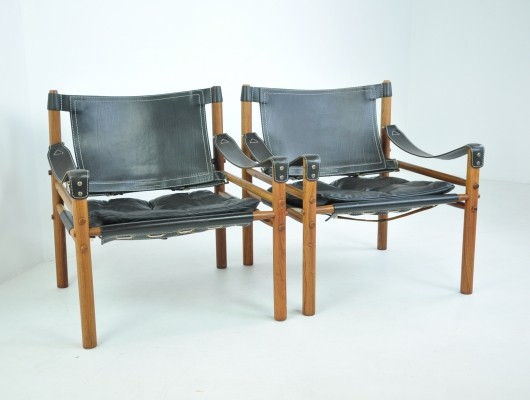 Pair of 'Scirocco' Easy Chairs by Arne Norell for Norell AB, Sweden 1960s