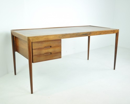 Writing Desk in Rosewood by Erik Riisager Hansen for Haslev, Denmark 1950s