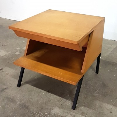 Very rare side table with drawer by Trefac Meurop, 1950s
