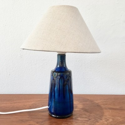 Small Blue Danish Ceramic Table Lamp