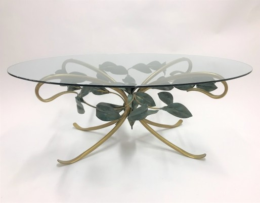 Vintage hollywood regency coffee table, 1970s