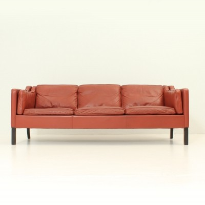Three-seater Danish Sofa in Leather