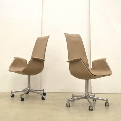 2 x FK6725 Tulip office chair by Jørgen Kastholm & Preben Fabricius for Walter Knoll, 1980s