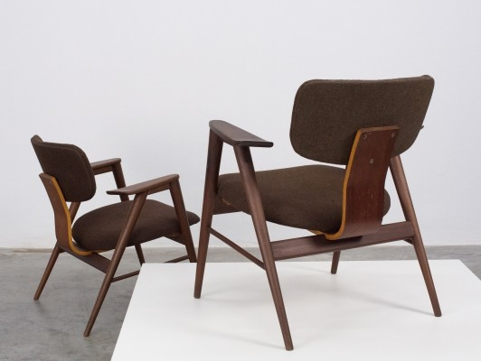 Teak wooden FB 14 lounge chairs by Cees Braakman for Pastoe