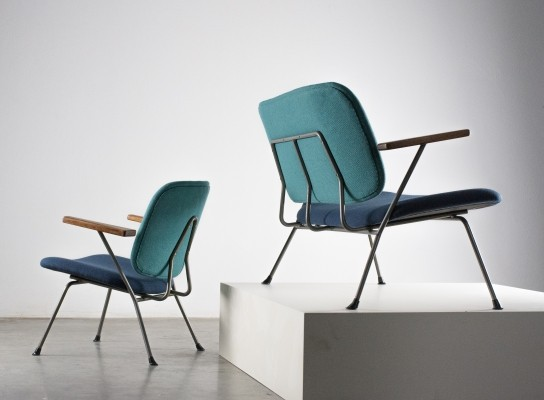 'Love Seat' & two Lounge chairs by W. Gispen for Kembo, 1950s