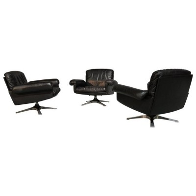Set of 3 ds 31 arm chairs by De Sede, 1960s