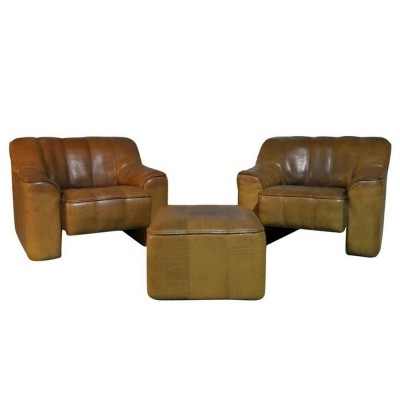 Pair of ds 44 arm chairs by De Sede, 1970s