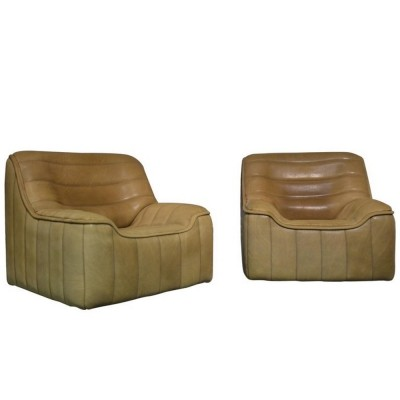 Pair of ds 84 lounge chairs by De Sede, 1960s