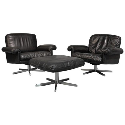 Pair of ds 31 arm chairs by De Sede, 1970s