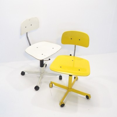 Set of early models (4 wheels) Kevi chairs by Jorgen & Ib Rasmussen