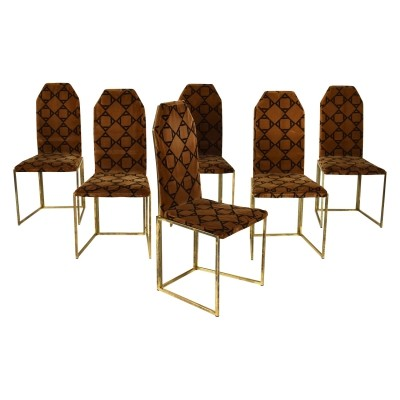 Set of 6 vintage dining chairs, 1970s