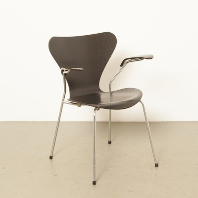 4 x Series 7 / Butterfly arm chair by Arne Jacobsen for Fritz Hansen, 1980s