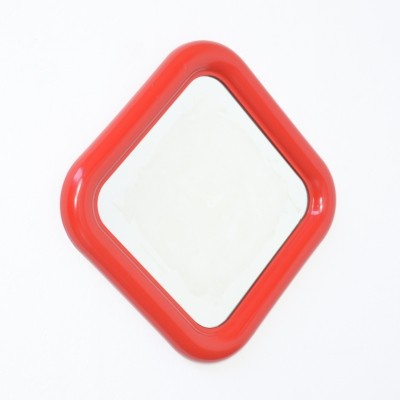 Red Delfo Mirror by Sergio Mazza for Artemide