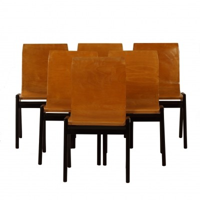 Set of 6 Beech Dining Chairs by Roland Rainer, 1956