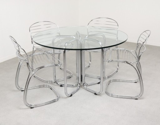 Dining table by Gastone Rinaldi for Rima, 1970s