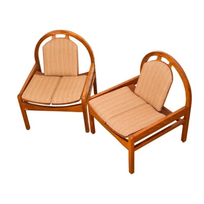 Pair of Argos lounge chairs by Baumann, France 1980s