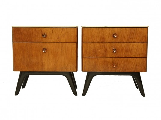 Pair of night stands by Jindřich Halabala for Spojene UP Zavody
