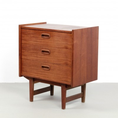 Vintage teak wood chest of drawers, 1960s