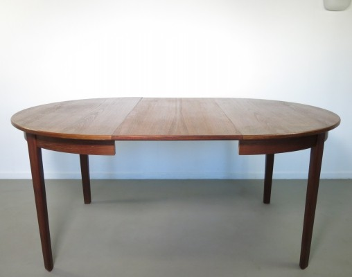 Teak extendable dining table by Svegards Markaryd