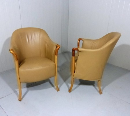 Set of 2 Progetti Easy Chairs by Giorgetti, 1987