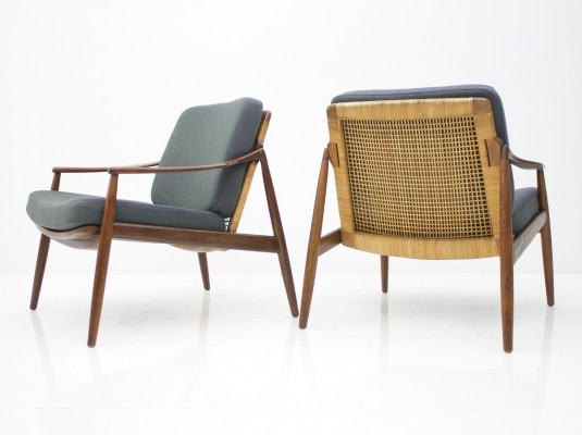 Pair of Hartmut Lohmeyer Easy Chairs, 1950s
