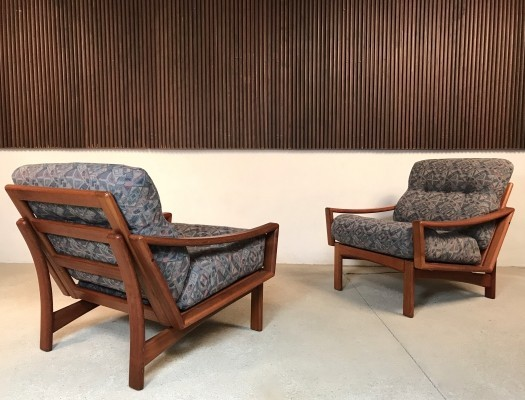 Pair of Danish Teak Easy Chairs by Glostrup, 1960s
