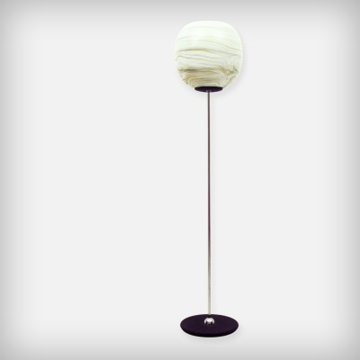 Murano Glass & Chrome Floor Lamp, 1960s